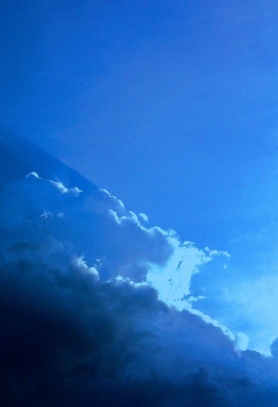Blue Clouds iPhone